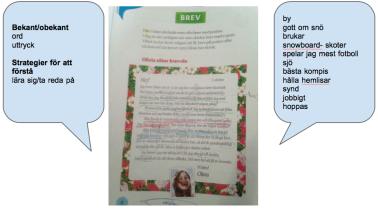 Analys av brev i läromedel