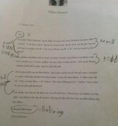 Analys av frökens brev.