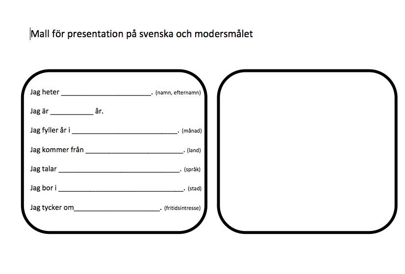 Exempel på bra presentation dejting